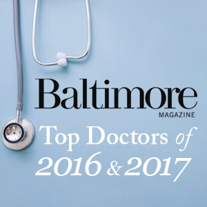 Baltimore Magazine Top Doctors 2016 & 2017