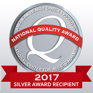 AHCA/NCAL Silver Achievement in Quality Award for 2017